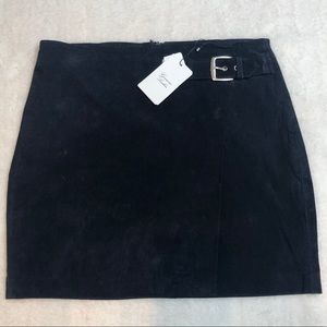 🔥HOST PICK MANGO SUEDE Navy Blue SUEDE Skirt NWT